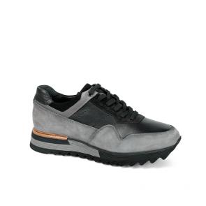 Мъжки обувки от естествена кожа и велур PRG-12520