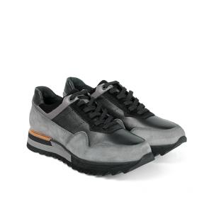 Мъжки обувки от естествена кожа и велур PRG-12520 - 2
