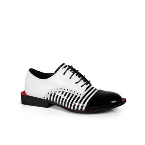 Дамски обувки от естествен лак и кожа PRG-4093