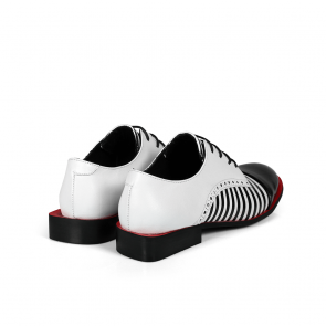 Дамски обувки от естествен лак и кожа PRG-4093 - 2