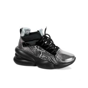Дамски спортни обувки от естествена кожа и лак PRG-4306