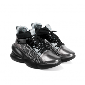Дамски спортни обувки от естествена кожа и лак PRG-4306 - 2