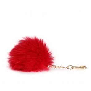 Аксесоар ключодържател от норвежка лисица в червен цвят