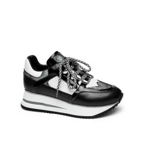 Дамски спортни обувки от естествена кожа и лак SD-1121