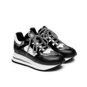 Дамски спортни обувки от естествена кожа и лак SD-1121 - 2