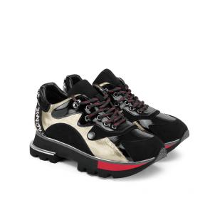 Дамски спортни обувки от естествен лак и велур SD-2746 - 2