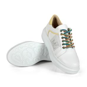 Дамски спортни обувки от естествена кожа SD-5079 - 2