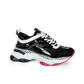 Дамски спортни обувки от естествена кожа и лак SD-5097