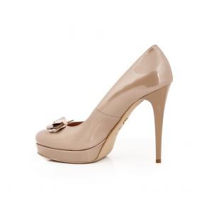 Дамски елегантни обувки от естествен лак - 2