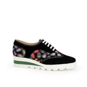 Дамски спортни обувки от естествен велур