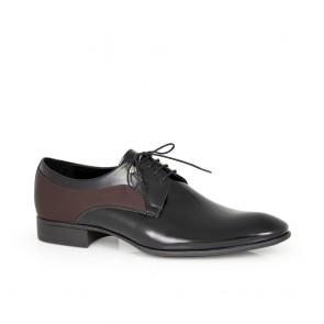 Мъжки официални обувки естествена кожа и набук