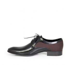 Мъжки официални обувки естествена кожа и набук - 2