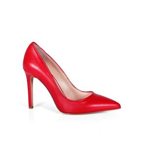 SY-25074-1 • червени дамски елегантни обувки на висок ток от естествена кожа