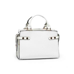 Дамска чанта от еко кожа и лак  - 2