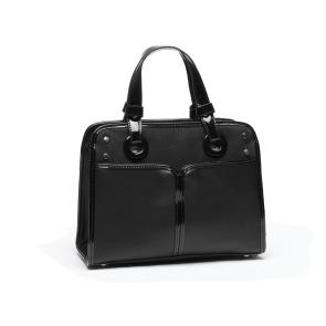 Дамска чант от еко кожа и лак - 2
