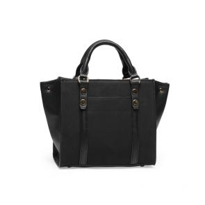 Дамска чанта от еко кожа и велур 1 - 2