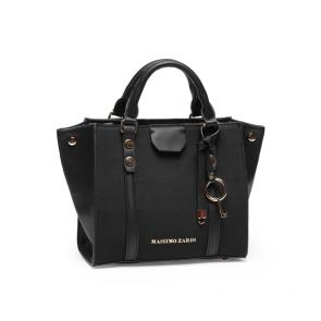 Дамска чанта от еко кожа и велур 1