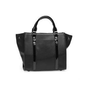Дамска чанта от еко кожа и лак1 - 2