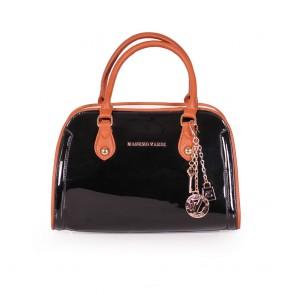 Дамска чанта от еко кожа и лак