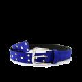 Дамски колан от еко велур в син цвят LD-3171 - 1t