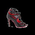 Дамски официални сандали от естествена кожа с връзки - 1t