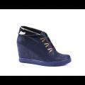 Дамски спортни обувки естествен велур и лак - 1t