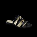Дамски чехли естествен черен лак - 1t