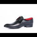 Мъжки официални обувки естествена кожа и велур - 2t