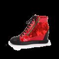 Дамски спортни обувки естествена кожа и лак - 2t
