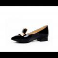 Дамски обувки естествен черен лак - 2t