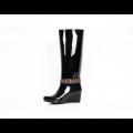 Дамски гумени ботуши в черен цвят - 2t