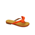 Дамски чехли естествен лак оранж - 1t