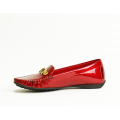 Дамски мокасини червен лак Н1-14-583 - 2t