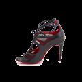 Дамски официални сандали от естествена кожа с връзки - 2t