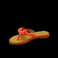 Дамски чехли естествен лак оранж - 2t