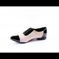 Дамски обувки от естествен велур с лак CP-2227 - 2t