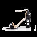 Дамски сандали от естествена кожа с висок ток - 2t