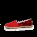 Дамски обувки от естествена червена кожа и  - 2t