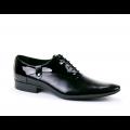 Мъжки официални обувки естествена кожа и лак - 1t