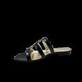 Дамски чехли естествен черен лак - 2t