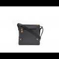 Дамска чанта естествена и еко кожа в черен цвят CV-111-88 - 3t