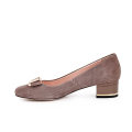 Дамски обувки от естествен щампован велур - 2t