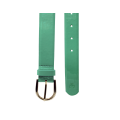 Дамски колан от еко лак в зелен цвят LD-772 - 2t
