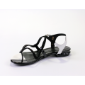 Дамски сандали естествен велур и лак - 2t