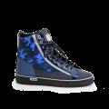 Дамски спортни обувки естествена кожа, лак и велур - 1t