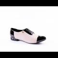 Дамски обувки от естествен велур с лак CP-2227 - 1t