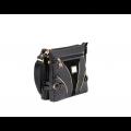 Дамска чанта естествена и еко кожа в черен цвят CV-111-88 - 2t