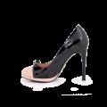 Дамски обувки от естествен лак и кожа  - 2t