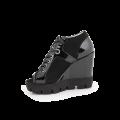 Дамски летни обувки от естествен лак и велур - 2t
