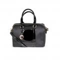 Дамска чанта от еко кожа и лак - 1t